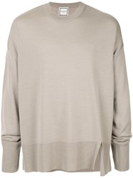 Wooyoungmi Ripped Detail Jumper Grey