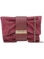 Jimmy Choo 'Chandra' Clutch Pink And Purple