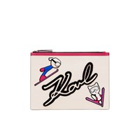 Karl Lagerfeld Women's Ski Holiday Pouch White