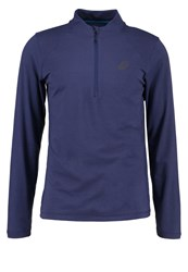 Asics Sports Shirt Indigo Blue Heather Dark Blue