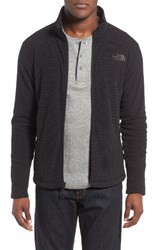 The North Face Men's Cap Rock Fleece Jacket Tnf Black Texture