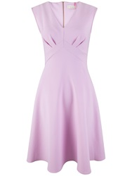 Almari V Neck Midi Dress Pink
