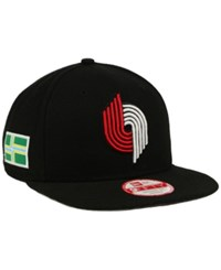 New Era Portland Trail Blazers Flag Stated 9Fifty Snapback Cap Black