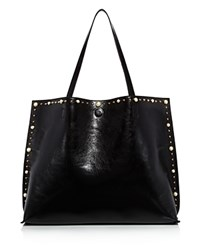 Street Level Faux Pearl Tote Black Gold