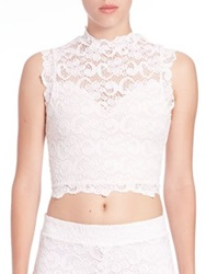 Nightcap Clothing Dixie Lace Crop Top Dove