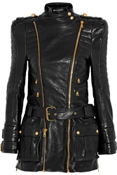 Balmain Leather Jacket Black