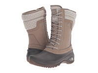 The North Face Shellista Ii Mid Split Rock Brown Dove Grey Women's Cold Weather Boots