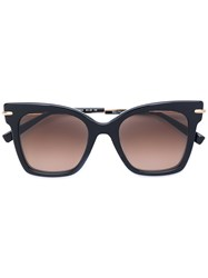 Max Mara Oversized Sunglasses Women Acetate Metal Other One Size Black
