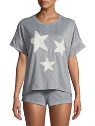 Roudelain Star Heathered Pajamas Grey