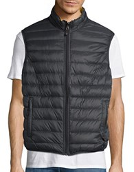 Hawke And Co Packable Water Resistant Reversible Quilted Vest Carbon