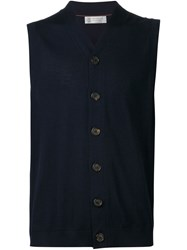 Brunello Cucinelli Knit Vest Blue