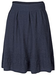 Fat Face Tapestry Stitch Skirt Navy