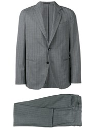 Caruso Striped Two Piece Suit Grey