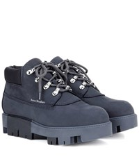 Acne Studios Tinne Leather Boots Blue