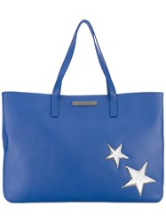 Marc Ellis Denise Star Tote Bag Women Leather One Size Blue