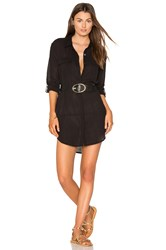 Seafolly Long Line Resort Shirt Black