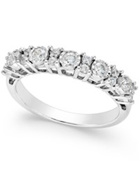 Trumiracle Diamond Anniversary Band 1 2 Ct. T.W. In 14K White Gold