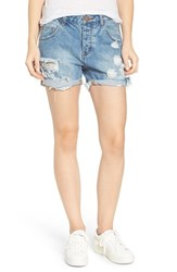 One Teaspoon Women's Charger Distressed Denim Shorts