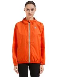 K Way Le Vrai 3.0 Claudette Nylon Jacket Orange