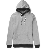 Beams Plus Loopback Cotton Jersey Hoodie Gray