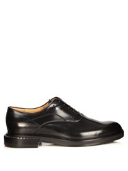 Fendi Leather Derby Shoes Black