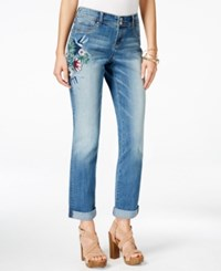 Inc International Concepts Petite Embroidered Boyfriend Jeans Only At Macy's Indigo