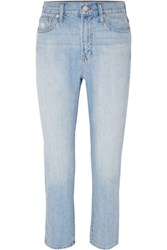 Madewell The Perfect Summer High Rise Straight Leg Jeans Light Denim