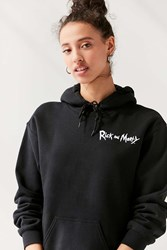 Urban Outfitters Rick And Morty Hoodie Sweatshirt Black