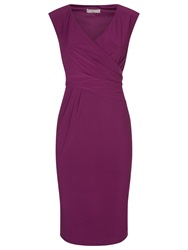 Planet Jersey Wrap Dress Wine