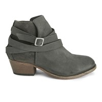 H Shoes By Hudson Women's Horrigan Tie Around Leather Ankle Boots Smoke