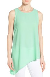Women's Gibson Sleeveless Asymmetrical Hem Top Green Ash
