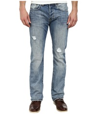 Buffalo David Bitton King Slim Boot In Lucas Blue Fabric In Sanded Patched Sanded And Patched Men's Jeans