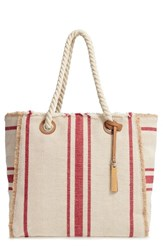 Vince Camuto Ulla Woven Tote Red