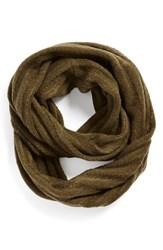 Junior Women's Bp. Ribbed Cable Knit Infinity Scarf Green Olive