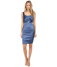 Nicole Miller Peek A Book Techno Dress Ocean Women's Dress Blue
