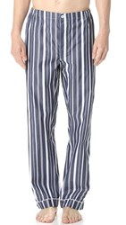 Sleepy Jones Marcel Variegated Stripe Pajama Pants Navy