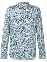 Paul Smith Ps By 'Fox Camouflage' Print Shirt White