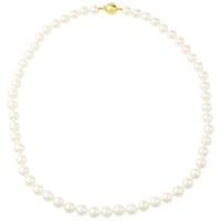 A B Davis Cultured Pearl Magnetic Clasp Necklace White