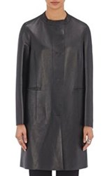 Marni Women's Leather Collarless Jacket Black