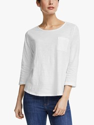 John Lewis Collection Weekend By 3 4 Sleeve Slub T Shirt White