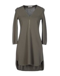Bruno Manetti Short Dresses Dove Grey
