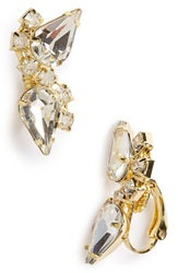Sole Society Crystal Ear Crawlers Gold