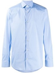 Z Zegna Regular Fit Plain Shirt Blue