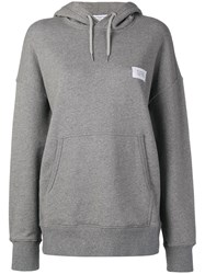 Givenchy Logo Patch Hoodie Grey