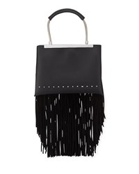 Alexander Wang Dime Small Fringe Satchel Bag Black