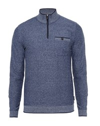 Ted Baker Men's Franco Funnel Neck Zip Up Jumper Navy