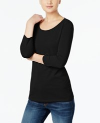 Max Mara Maxmara Three Quarter Sleeve T Shirt Black