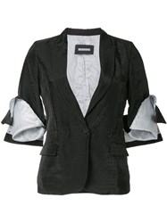 Moohong Cutted Blazer Black