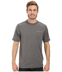 The North Face Short Sleeve Meadowlake Flashdry Crew Heather Grey Men's Short Sleeve Pullover Gray