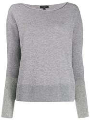 Antonelli Round Neck Knit Sweater Grey